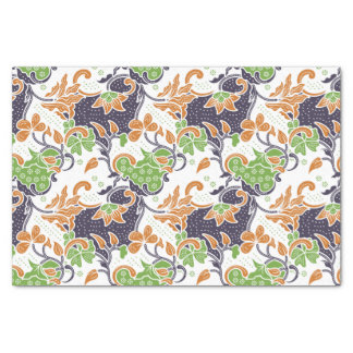 Modelo floral artístico del batik de las vides papel de seda