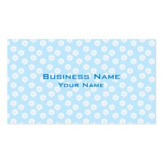 Modelo floral azul en colores pastel bonito plantilla de tarjeta de visita