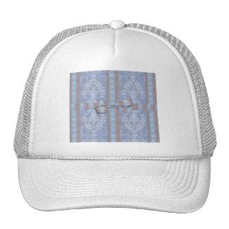 Modelo floral Brown azul del papel pintado de la Gorro De Camionero