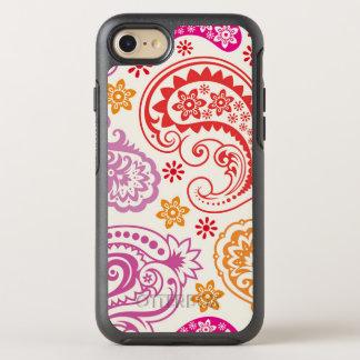 Modelo floral colorido divertido de Paisley Funda OtterBox Symmetry Para iPhone 7
