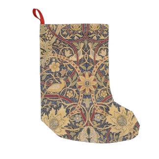 Modelo floral de la tela de la tapicería del calcetín de navidad pequeño