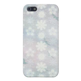 Modelo floral de los pájaros iPhone 5 funda