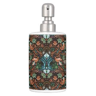 Modelo floral de lujo del lux del pájaro del oro conjunto de baño