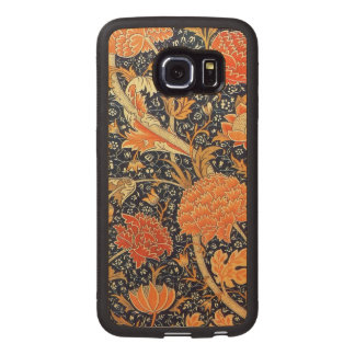 Modelo floral de Nouveau del arte de William Fundas De Madera Para Samsung S6 Edge