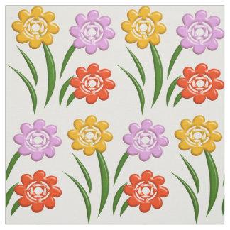 Modelo floral del cuarto de niños tela