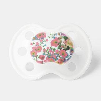 modelo floral del tema de las flores elegantes del chupete