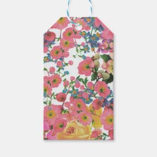 modelo floral del tema de las flores elegantes del etiquetas para regalos