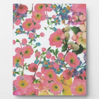 modelo floral del tema de las flores elegantes del placa expositora