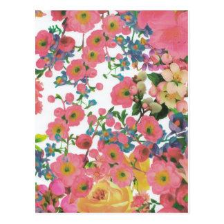 modelo floral del tema de las flores elegantes del postal