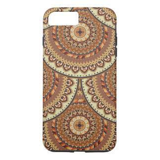 Modelo floral étnico abstracto colorido de la funda iPhone 7 plus