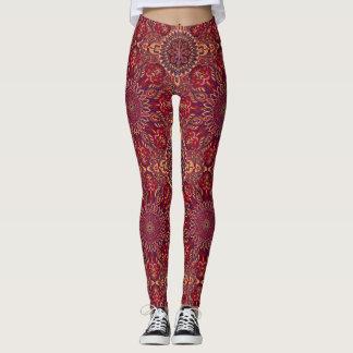 Modelo floral étnico abstracto colorido de la leggings