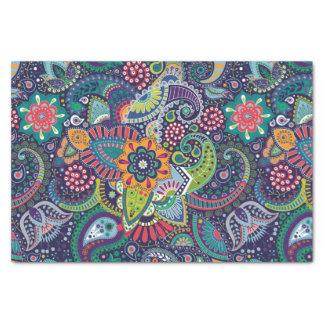 Modelo floral multicolor de neón de Paisley Papel De Seda
