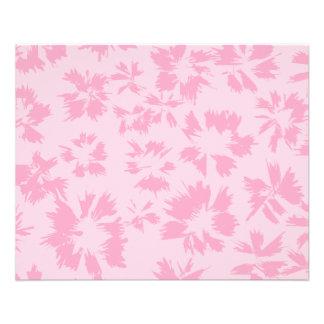 Modelo floral rosado folleto 11,4 x 14,2 cm