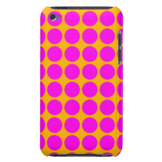 Modelo Fondo anaranjado con los círculos rosados Case-Mate iPod Touch Funda