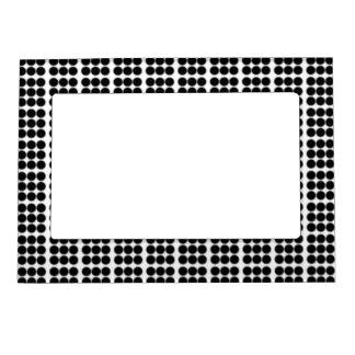 Modelo: Fondo blanco con los círculos negros Marcos Magnéticos