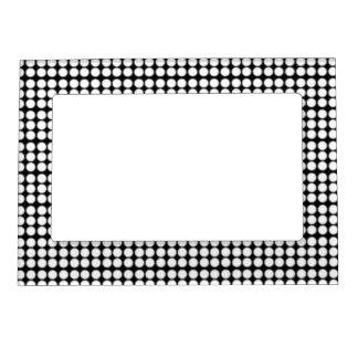 Modelo: Fondo negro con los círculos blancos Marcos Magnéticos