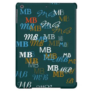 modelo fresco de las iniciales de la tipografía funda iPad air