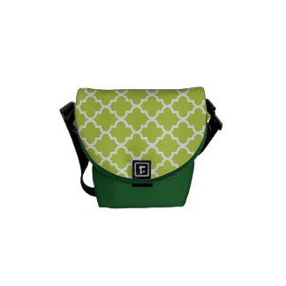 Modelo fresco marroquí de la teja de la verde lima bolsa de mensajería
