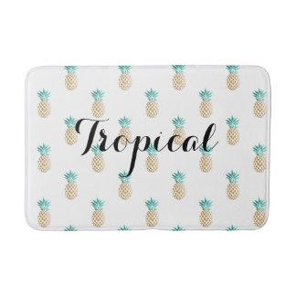 modelo fresco tropical de la piña del efecto alfombrilla de baño