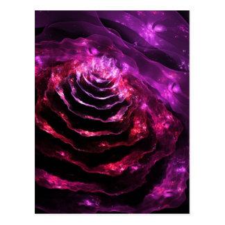 Modelo futurista floral surrealista de la violeta  postal