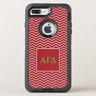 Modelo gamma alfa del delta el | Chevron Funda OtterBox Defender Para iPhone 7 Plus