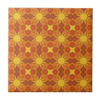 Modelo geométrico 003 de Ben Yusuf Madrasa Azulejo Cuadrado Pequeño