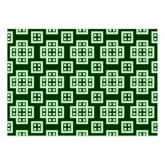 Modelo geométrico 030614 - verde del fantasma en v tarjetas de visita
