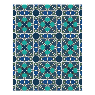 Modelo geométrico 0-0-7 de Ben Yusuf Madrasa Impresion Fotografica
