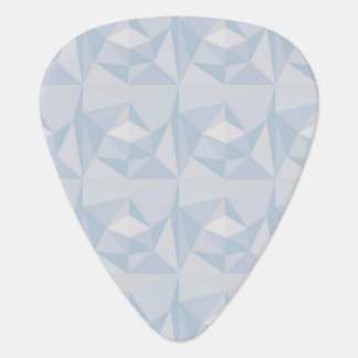 Modelo geométrico abstracto púa de guitarra