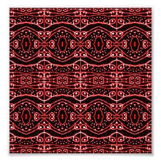 Modelo geométrico adornado tribal arte fotográfico