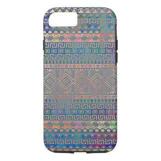 Modelo geométrico azteca colorido fresco hermoso funda para iPhone 8/7