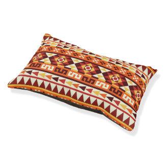 Modelo geométrico azteca de moda cama para mascotas