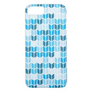 Modelo geométrico azul funda iPhone 7
