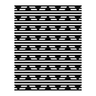Modelo geométrico blanco y negro con las rayas folleto 21,6 x 28 cm