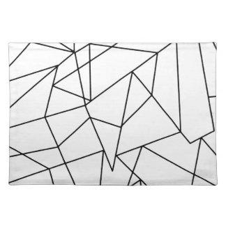 Modelo geométrico blanco y negro moderno simple salvamanteles