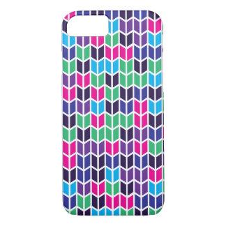 Modelo geométrico coloreado funda iPhone 7
