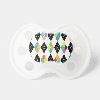 Modelo geométrico colorido chupetes de bebe