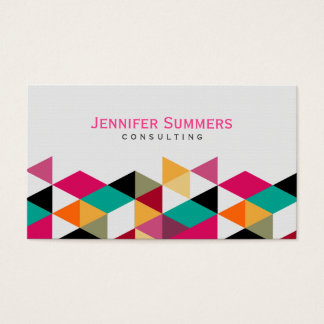 Modelo geométrico colorido moderno 4a de los tarjeta de negocios