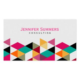 Modelo geométrico colorido moderno 4a de los tarjetas de visita