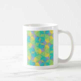 Modelo geométrico colorido taza de café