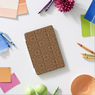 Modelo geométrico de cuero GR3 de Brown Cubierta De iPad Mini