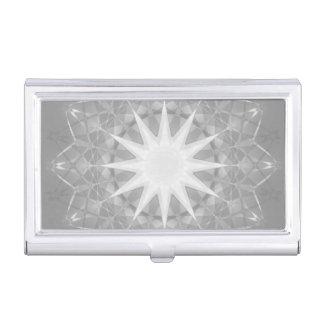 Modelo geométrico de la mandala gris de la caja de tarjetas de negocios
