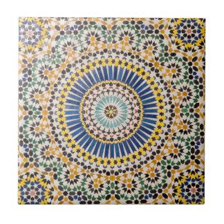 Modelo geométrico de la teja, Marruecos Azulejo Cuadrado Pequeño