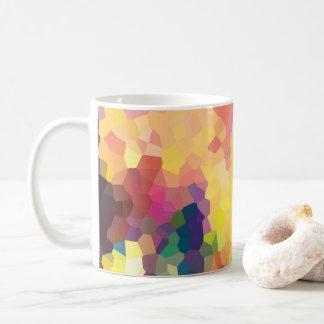 Modelo geométrico de los cristales abstractos taza de café