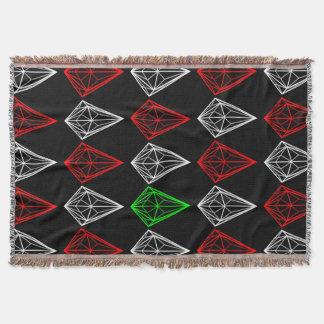 Modelo geométrico de los diamantes manta tejida