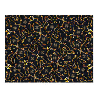 Modelo geométrico de lujo del adorno postal