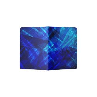 Modelo geométrico del hielo azul fresco porta pasaportes