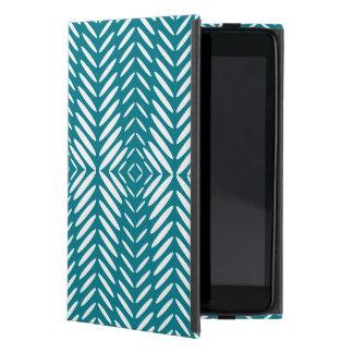 Modelo geométrico del navidad azul iPad mini fundas