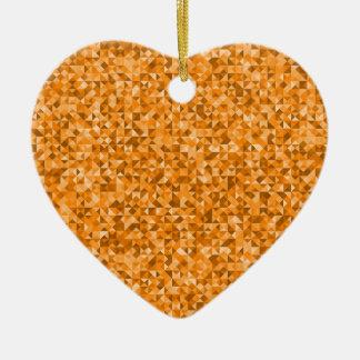 Modelo geométrico del triángulo amarillo de adorno de cerámica en forma de corazón