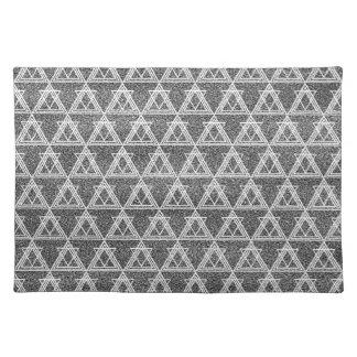 Modelo geométrico del triángulo blanco y negro salvamanteles